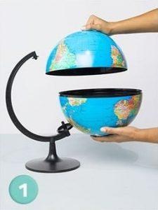 разделить глобус