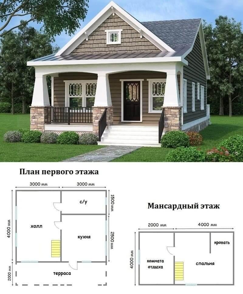 Миниатюрный садовый домик 6 x 4
