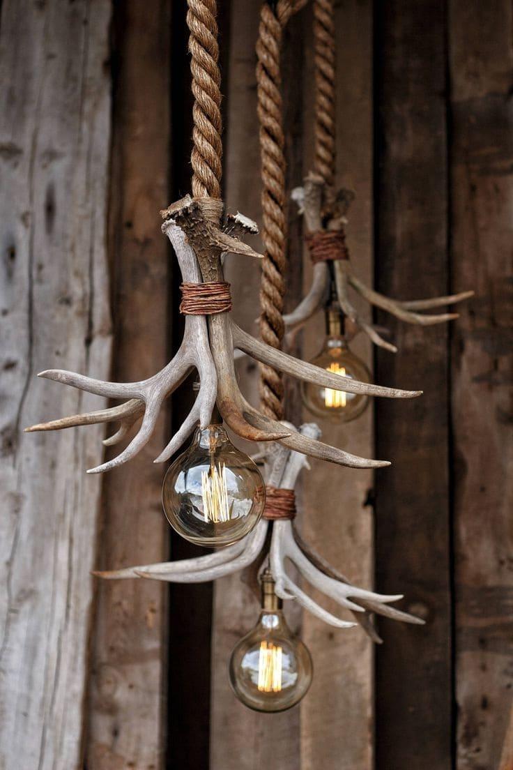 Оригинальный и незатейливый дизайн светильника в деревенском стиле