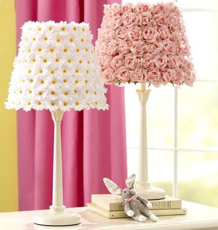 Элегантный, флористический дизайн светильника, изготовленного своими руками