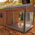 деревянный вольер для собаки