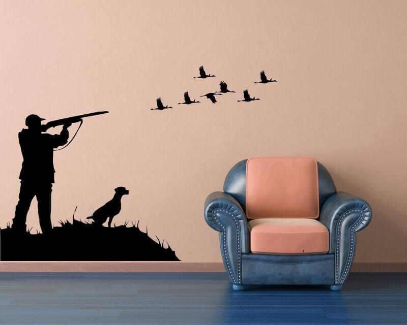 Интересная настенная виниловая наклейка на тему охоты