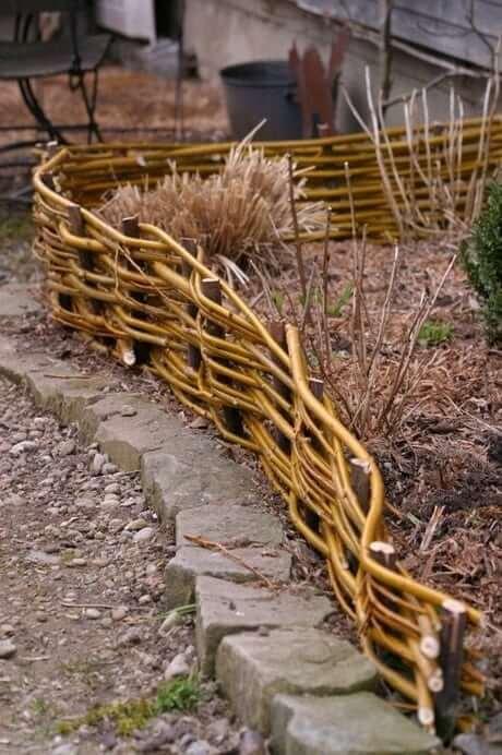 красивый забор для сада