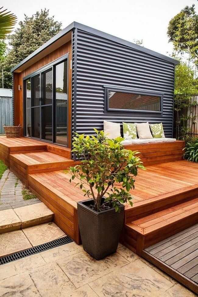 Летняя кухня с пристроенной открытой террасой