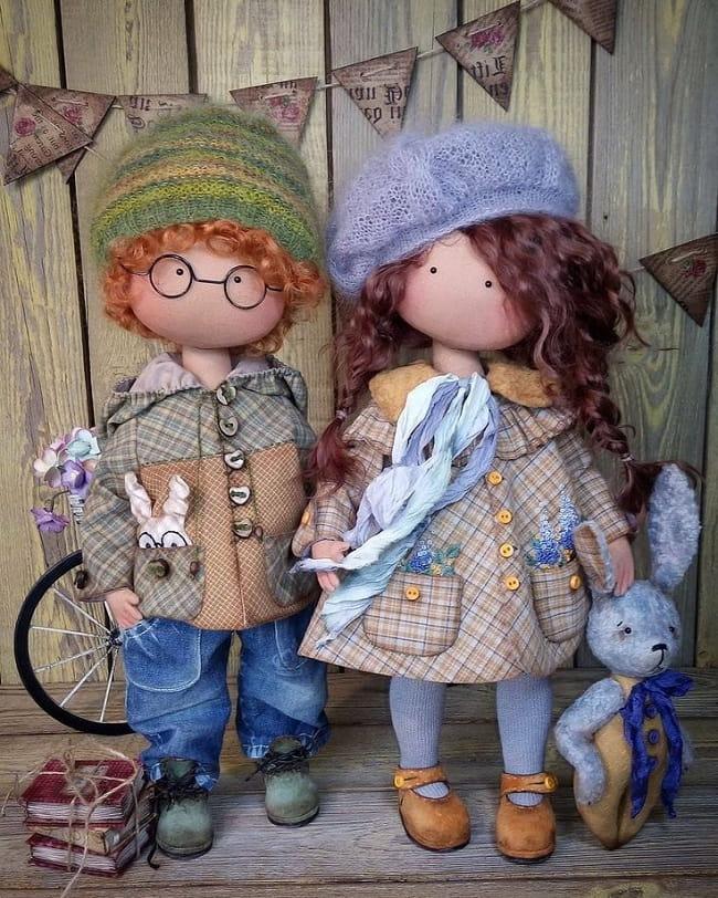 Кукла тильда является ярким представителем эксклюзивного декора