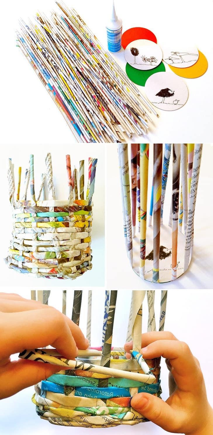 Как правильно плести вазу из бумажных трубочек