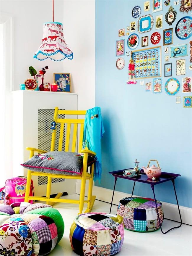 Найти применение технике шитья пэчворк можно в любой комнате - детская не исключение