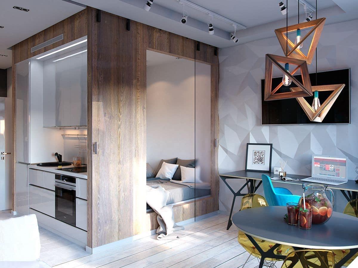 Как видите, уютно и эргономично организовать пространство для жизни, можно на совсем маленькой площади квартиры хрущевки