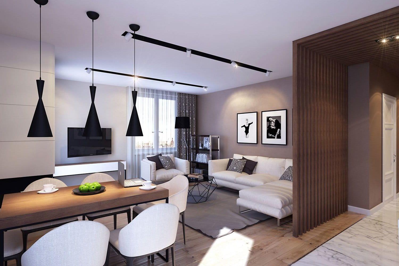 Стильный и уютный интерьер в современном стиле