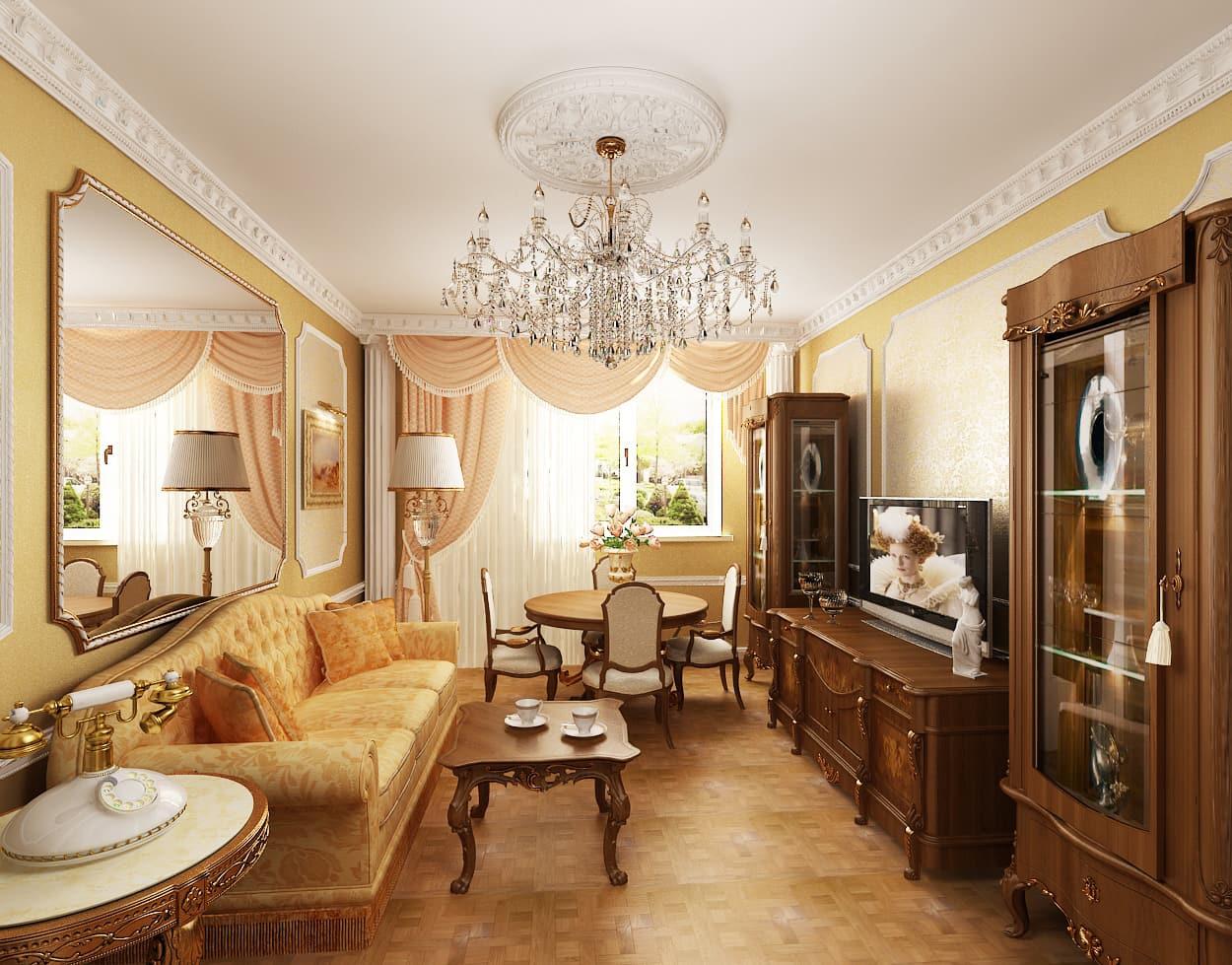 Трудно представить классический интерьер без наличия в нем деревянного стола и стульев