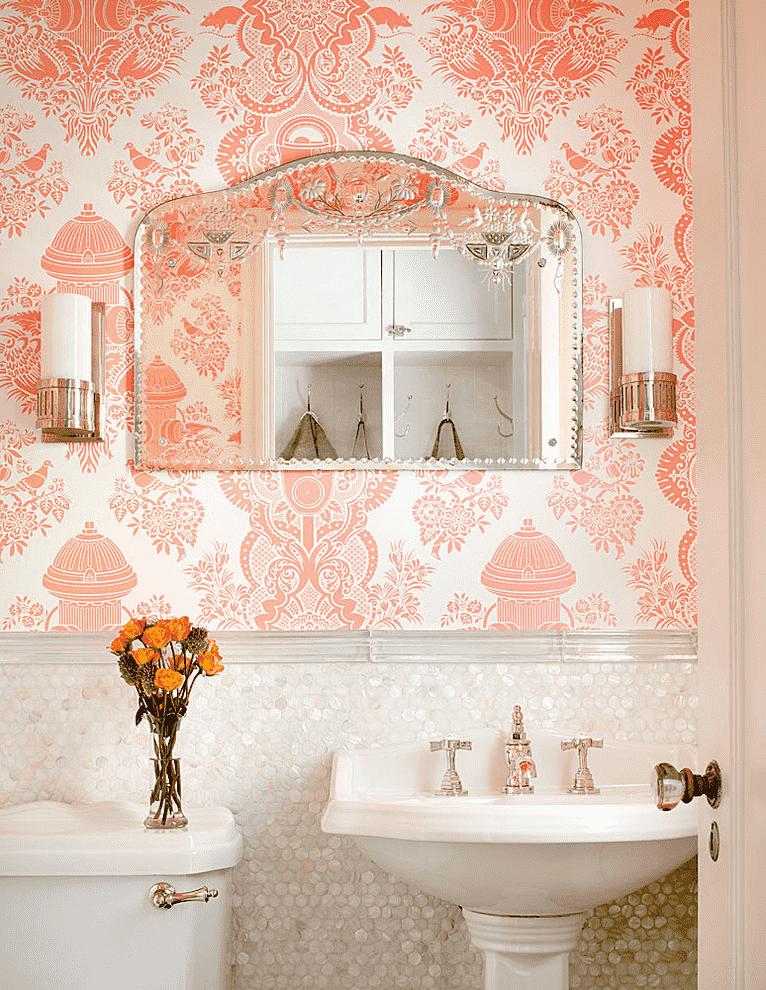 Дизайн ванной комнаты в стиле романтизм