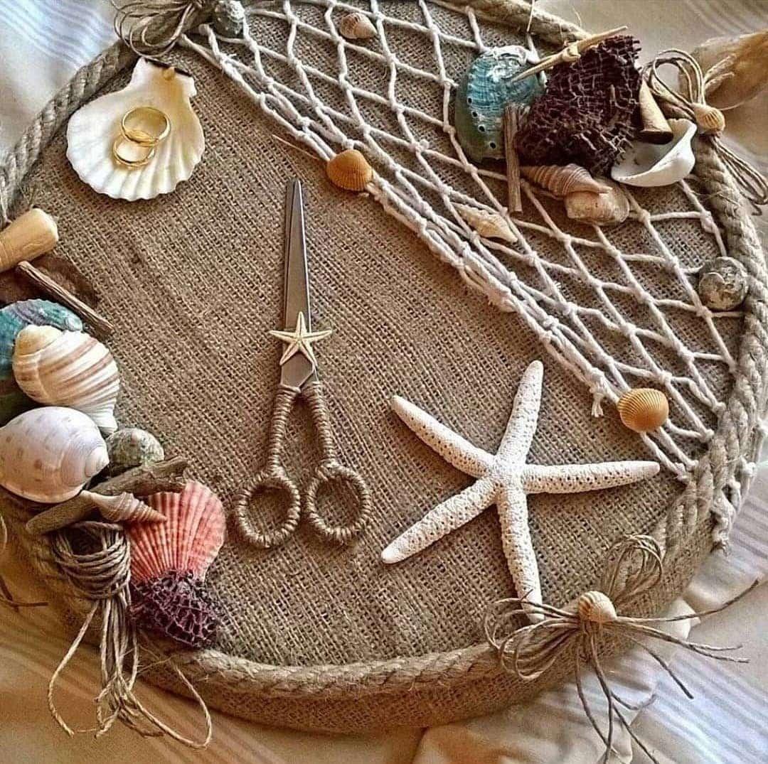 Изготавливая декора на морскую тематику ничем себя не ограничивайте - творите, пробуйте, дерзайте