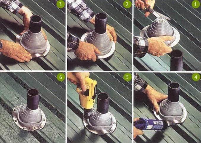 Полимерные манжеты для труб - отличный и недорогой способ защитить крышу от протечек