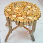 стол из деревянных спилов своими руками фото