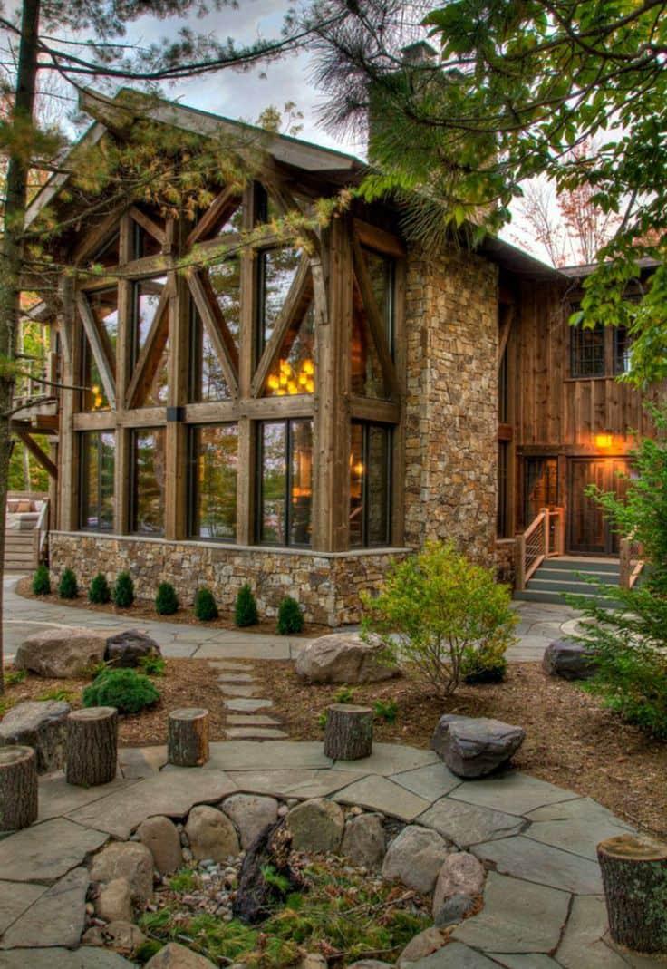 Дому из камня и дерева не страшен ни суровый северный климат, ни сильная жара