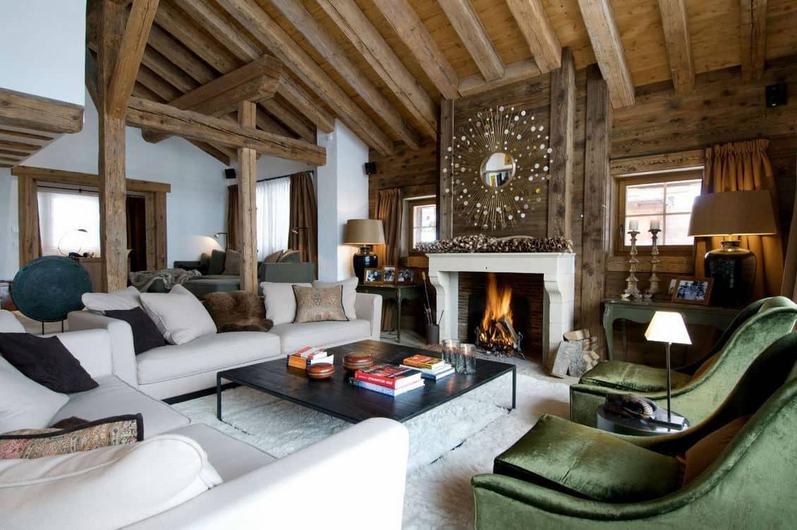 Интерьер дома в стиле «Chalet» должен быть максимально комфортным и функциональным