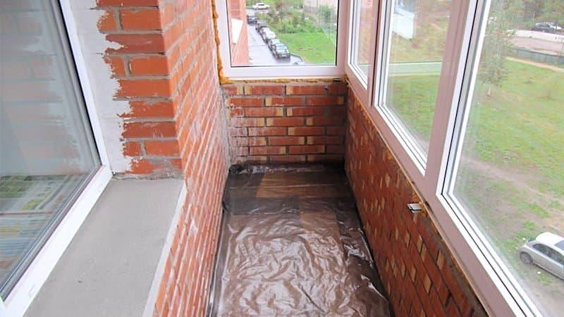 Гидроизоляция балкона полиэтиленовой пленкой