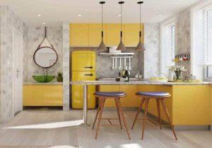 красивый дизайн маленькой кухни фото