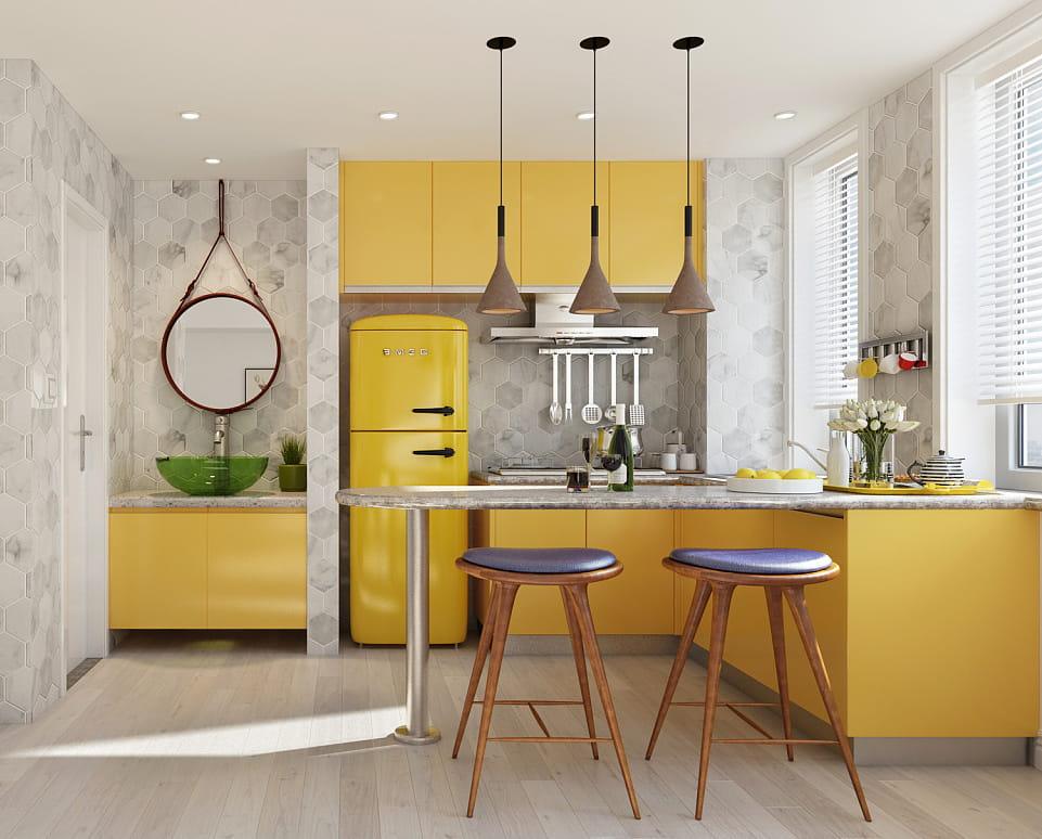 Кухня с маленькой площадью проблема многих квартир, но это не мешает в этом небольшом пространстве обустроить уютный уголок
