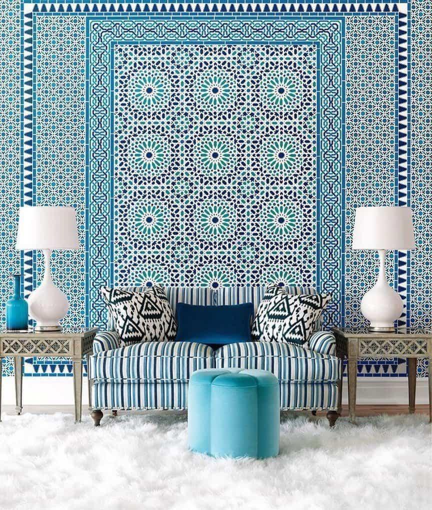 Правильная расцветка стен подчеркнет оригинальность фасадов мебельного гарнитура