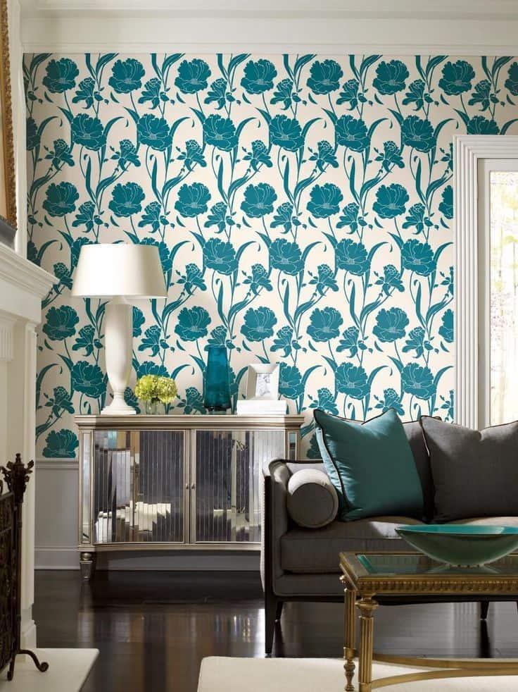 Красивое и необычное оформление стен в гостиной