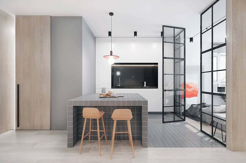 Нейтральный серый цвет обладает потрясающим спектром оттенков, способными привнести нотку современности в дизайн интерьера любой кухни
