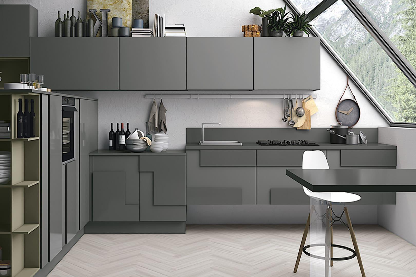 Современная концепция минимализма предлагает огромное количество стильных вариантов отделки фасадов для кухонной мебели