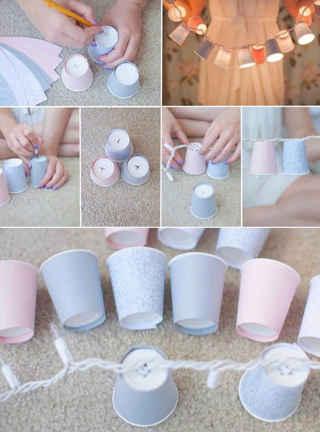 Мастер-класс по изготовлению гирлянды из бумажных стаканов