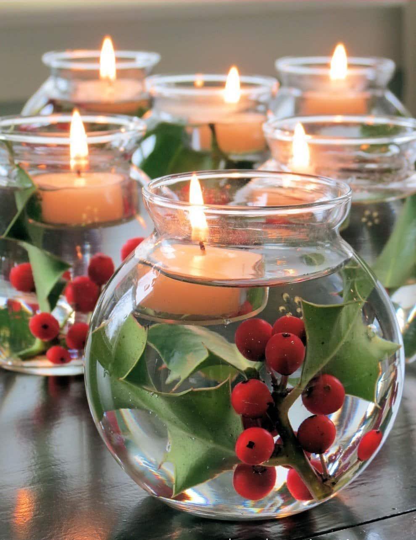 С плавающими свечами на столе новогоднее торжество запомниться надолго