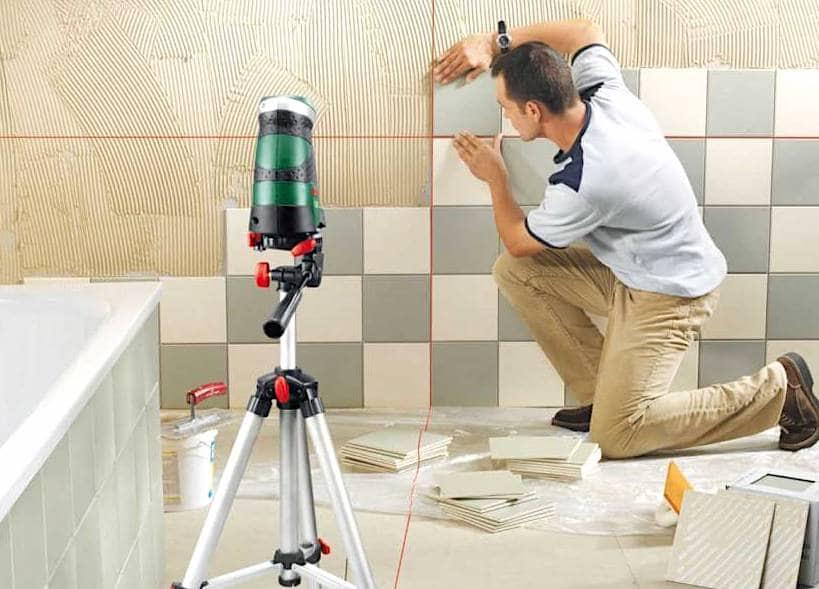 Прямой способ укладки керамической плитки на стену