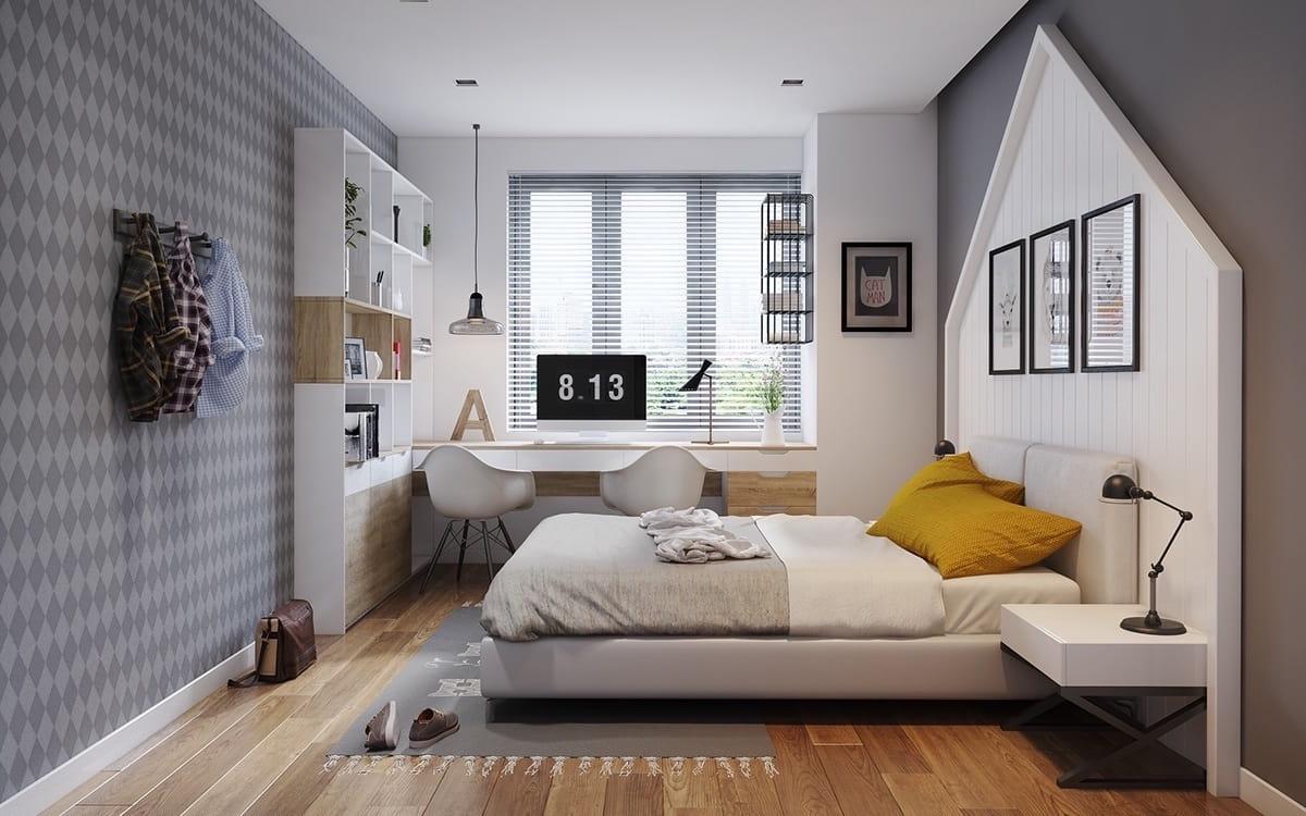 Безукоризненный вариант отделки спальной комнаты в природных мотивах