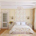 теплые оттенки спальни