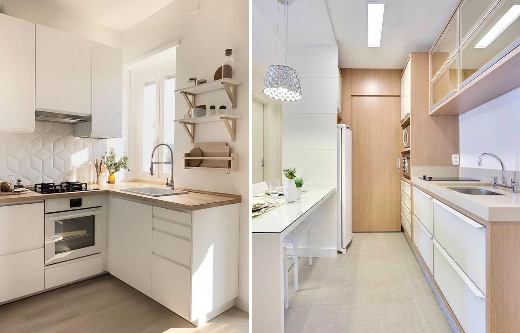 Кухня в скандинавском стиле, с преобладанием белого цвета, всегда выглядит эффектно и элегантно