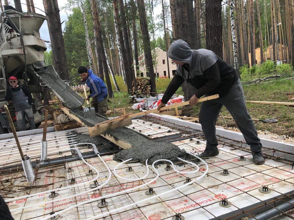 Утепленная шведская плита под деревянную баню