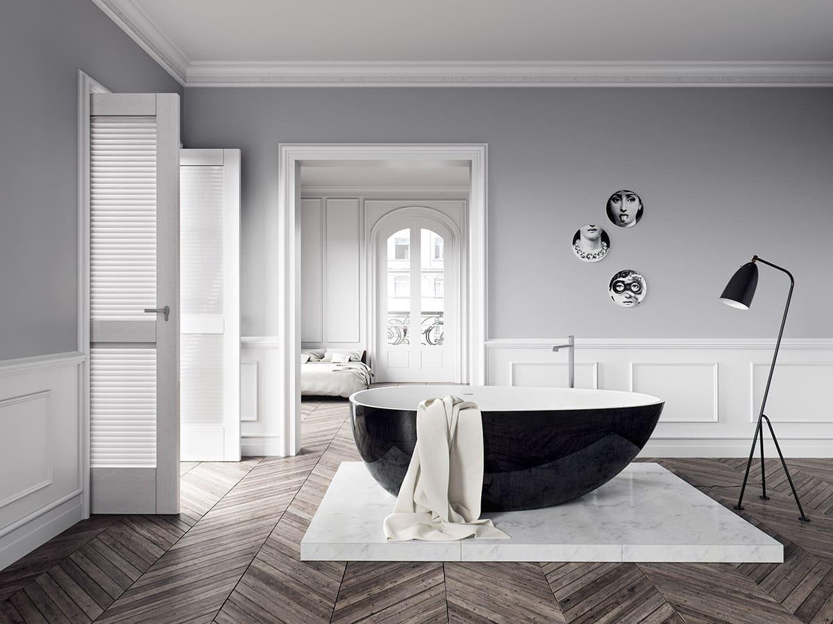 С точки зрения профессиональной колористики - классическое сочетание серого и белого цвета, считаются безупречным решением в оформлении интерьера