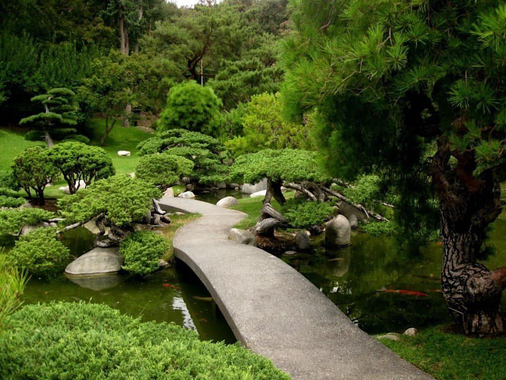 Классический ландшафт японского сада