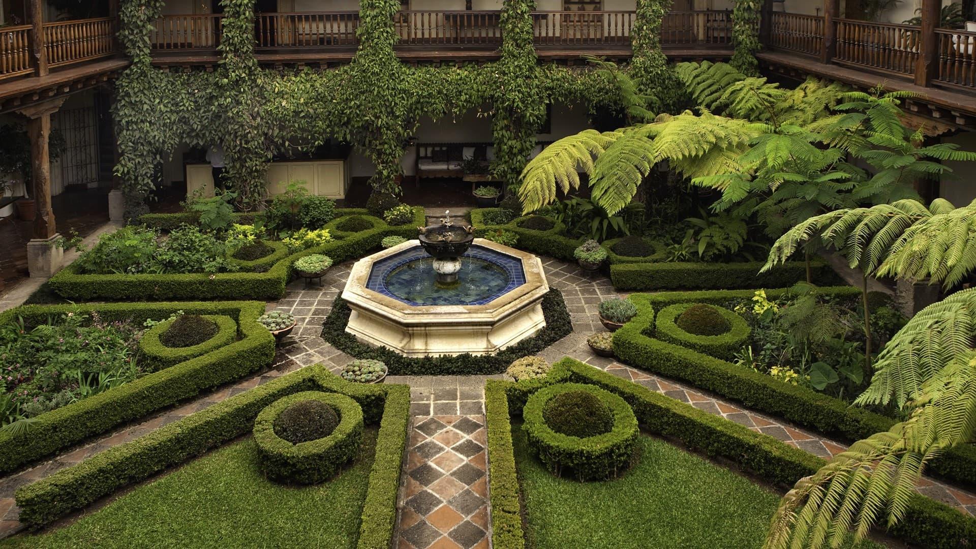 Фонтан в саду, как малая архитектурная форма, поможет создать уникальный и очень красивый ландшафтный дизайн