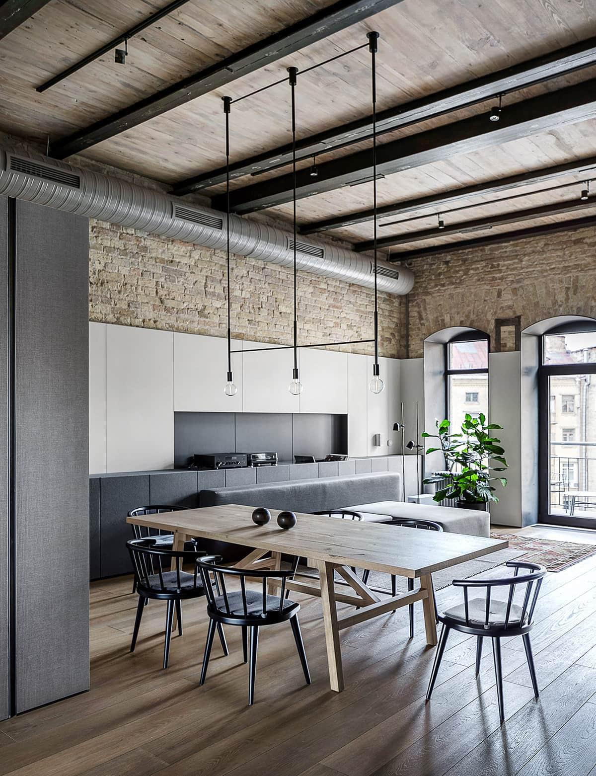 Стильная гостиная которая не содержит в себе абсолютно ничего лишнего, нет загромождения пространства габаритными предметами интерьера