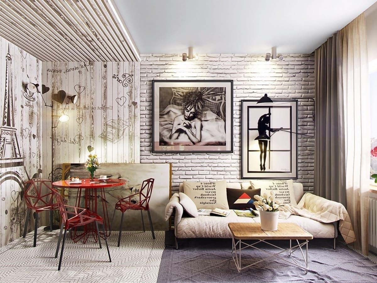 Белый цвет визуально создает ощущение чистоты, простора и воздушности