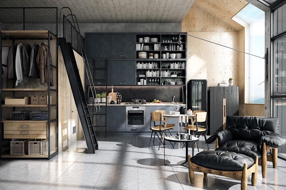 Прочная, стильная и в тоже время простая мебель выполнена из дерева