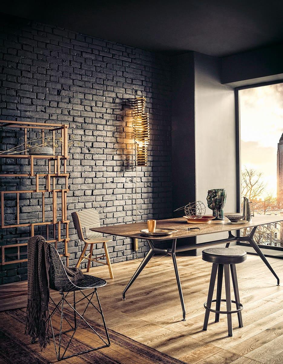 Роскошная кухня-гостиная в приглушенных тонах черного цвета