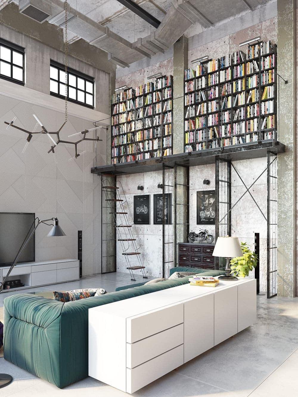 Данный интерьер является эталоном правильного дизайна и идеального вкуса при оформлении минималистичного лофт интерьера