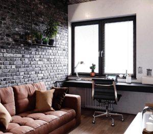 стена из черного кирпича