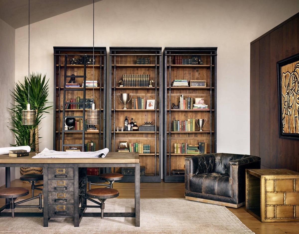 Натуральные материалы такие как металл, дерево и стекло идеально подходят для отделки и декорирования лофт помещения с элементами ретро стиля