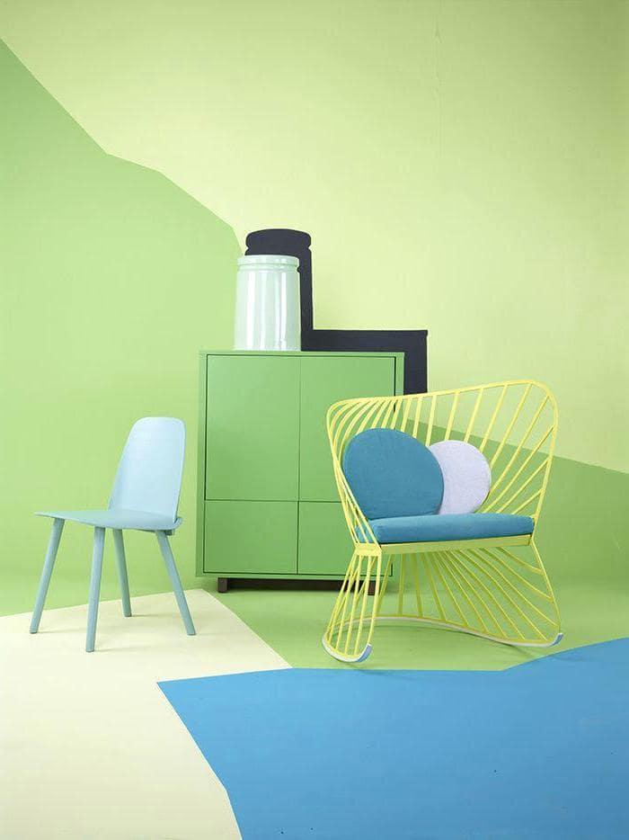 Эффектный контраст синего и зеленого цвета