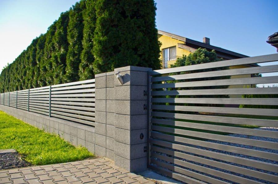 забор с просветами