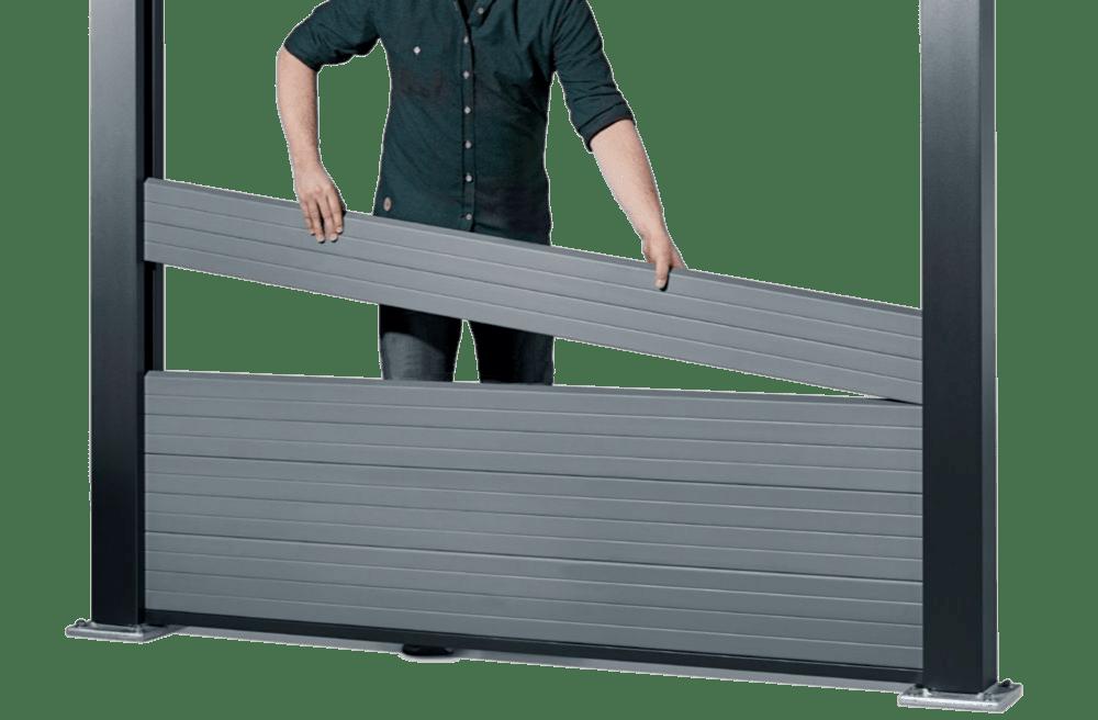 монтаж секций забора из древесно-полимерного компазита