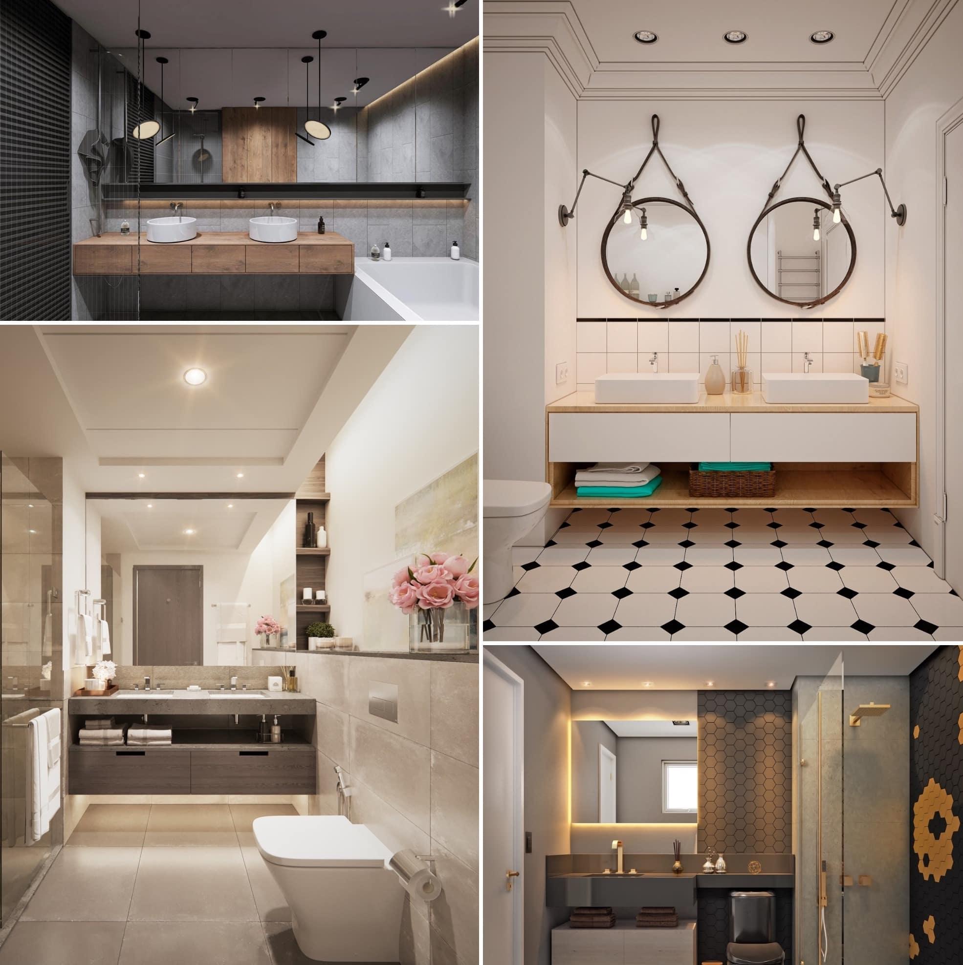 Плитка в ванной на полу и стенах должна обладать тактильно приятной поверхностью