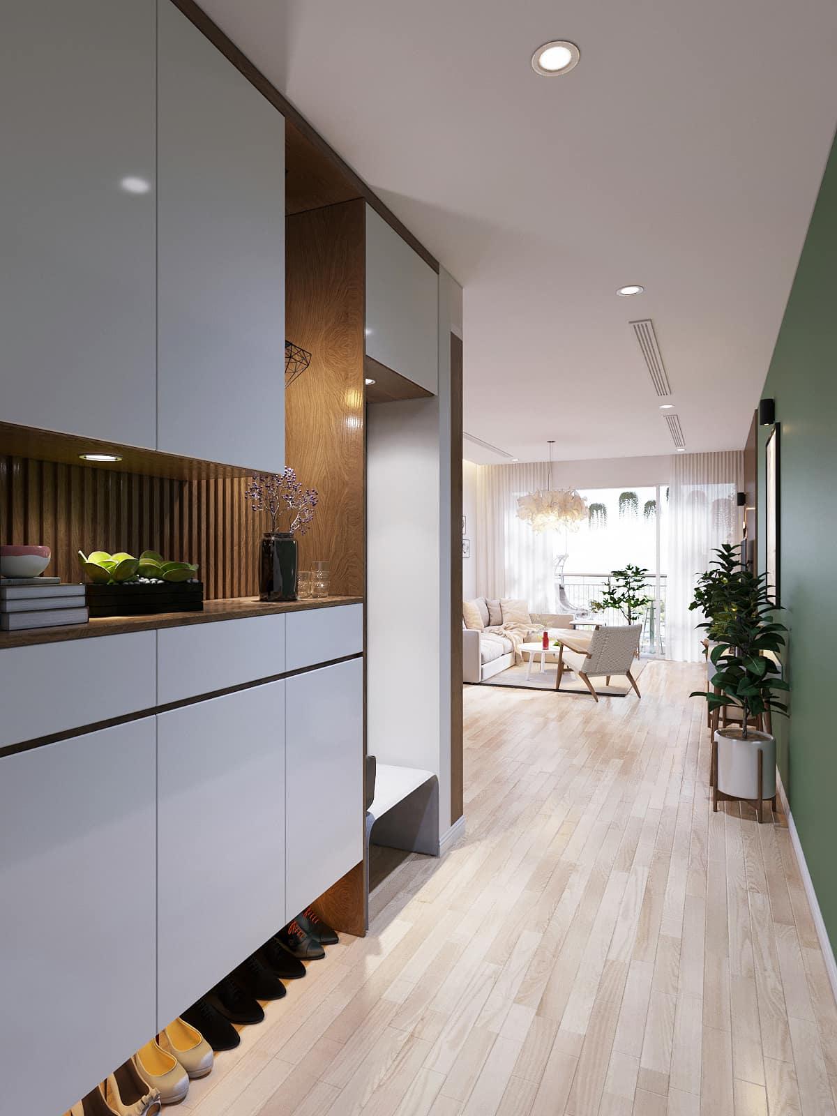 Использование приятных контрастных цветов в оформлении гостиной комнаты