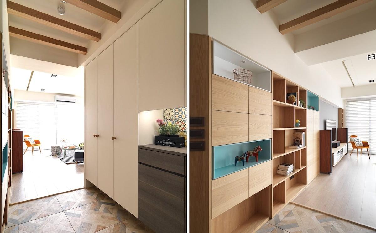 Интересное исполнение шкафа - дизайн, фактура, сочетание цветов